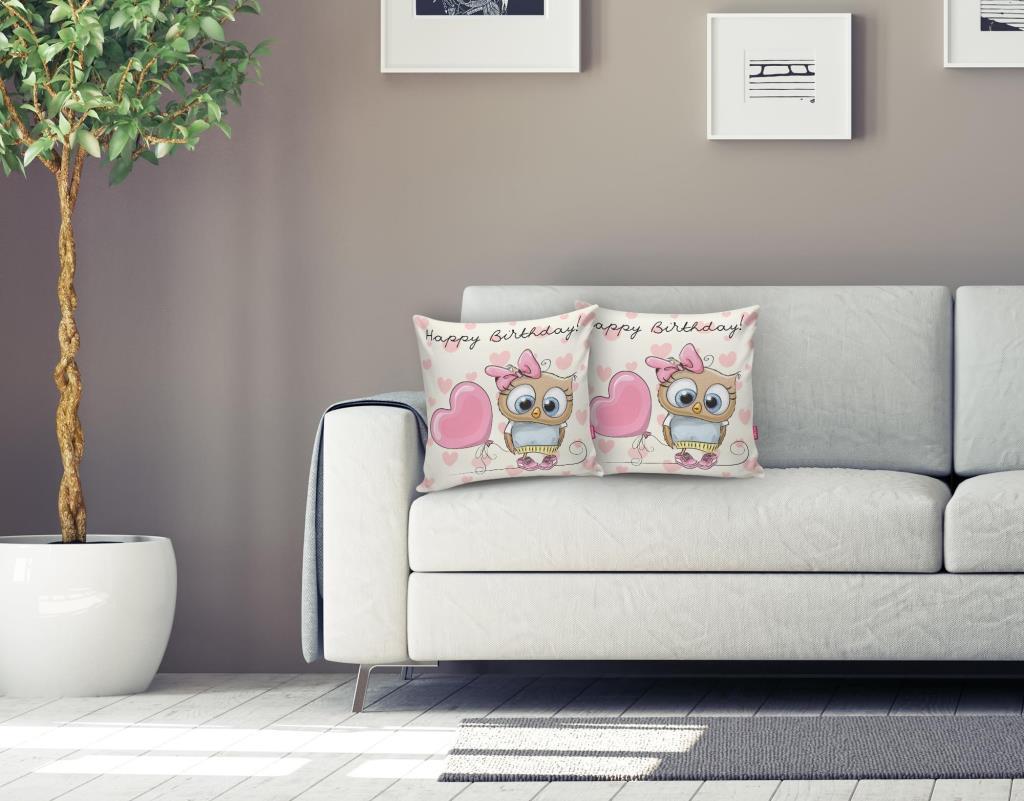 Sevimli Kediler Dijital Baskılı Dekoratif Yastık Kırlent Kılıfı Realhomes