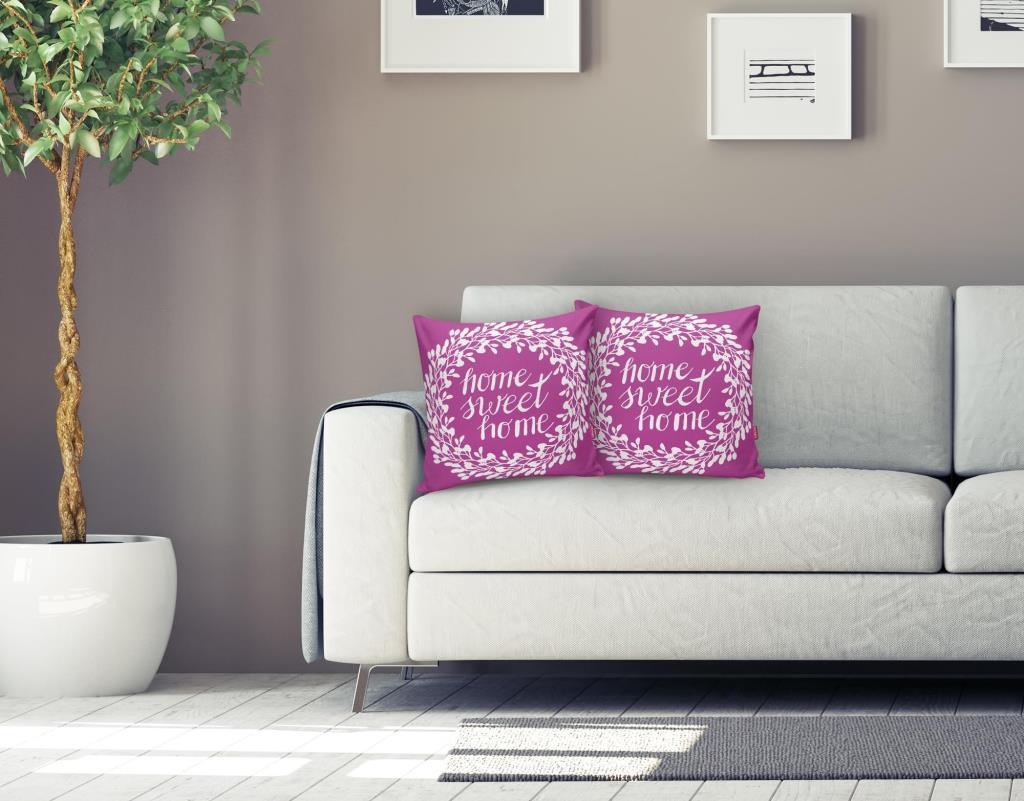 Home Sweet Home Dijital Baskılı Dekoratif Yastık Kırlent Kılıfı Realhomes