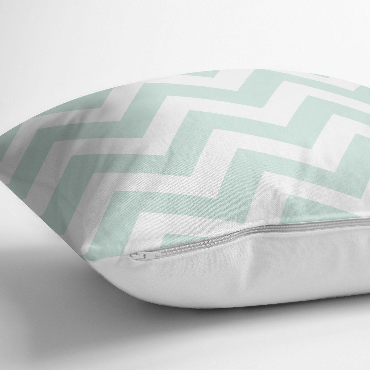Modern Zigzag Dijital Baskılı Yastık Kırlent Kılıfı Realhomes