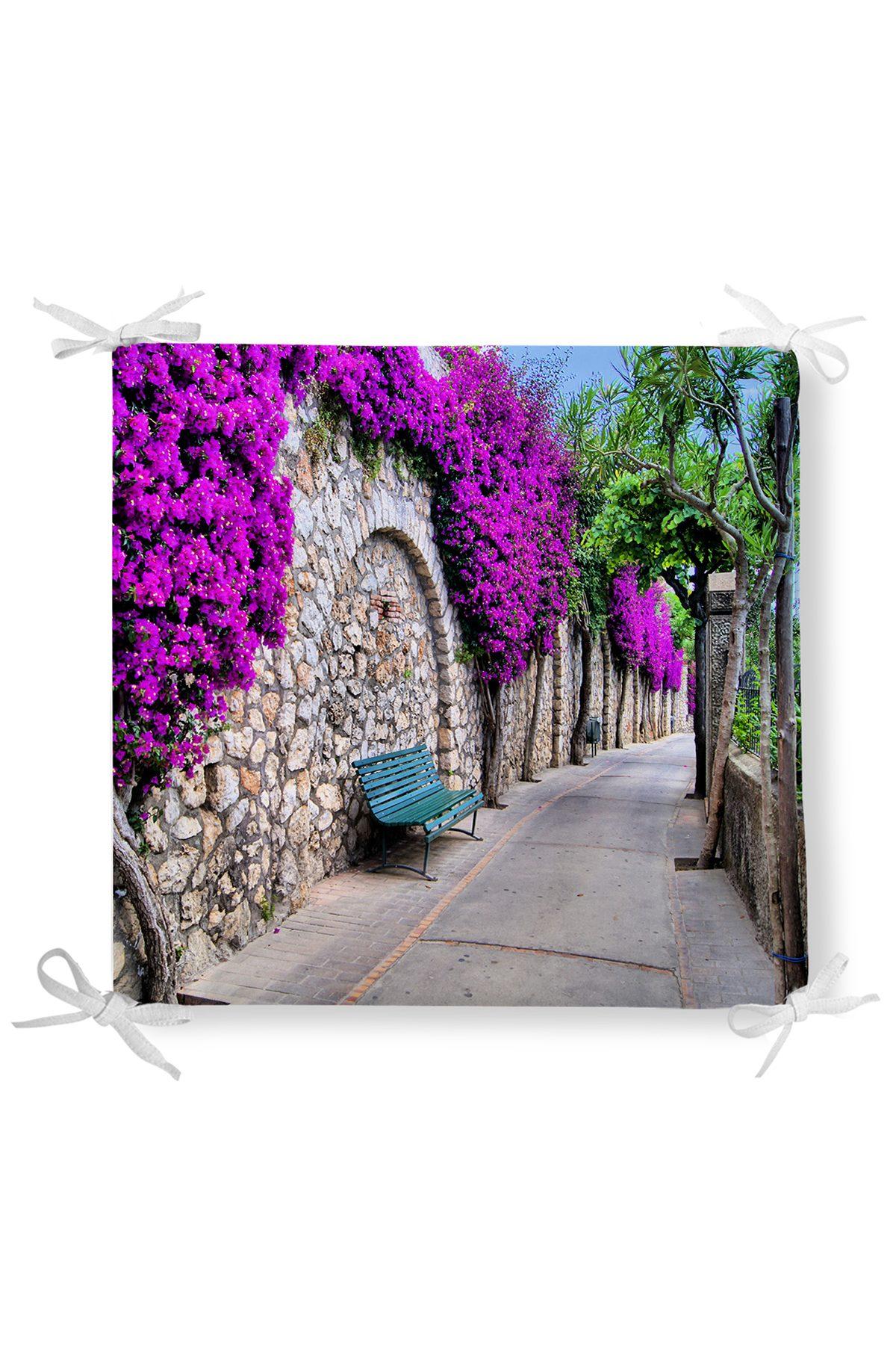 Çiçek Sokağı Dekorati Kare Sandalye Minderi Realhomes