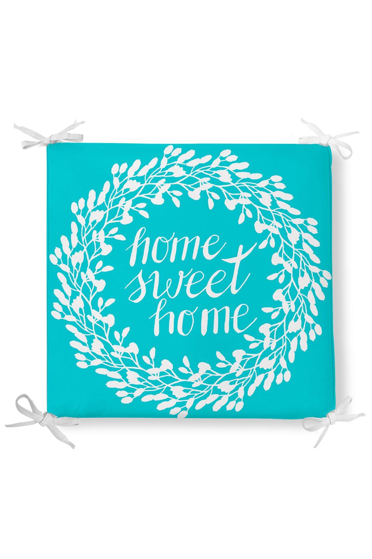 Home Sweet Home Dekorati Kare Sandalye Minderi 40x40cm Fermuarlı Realhomes