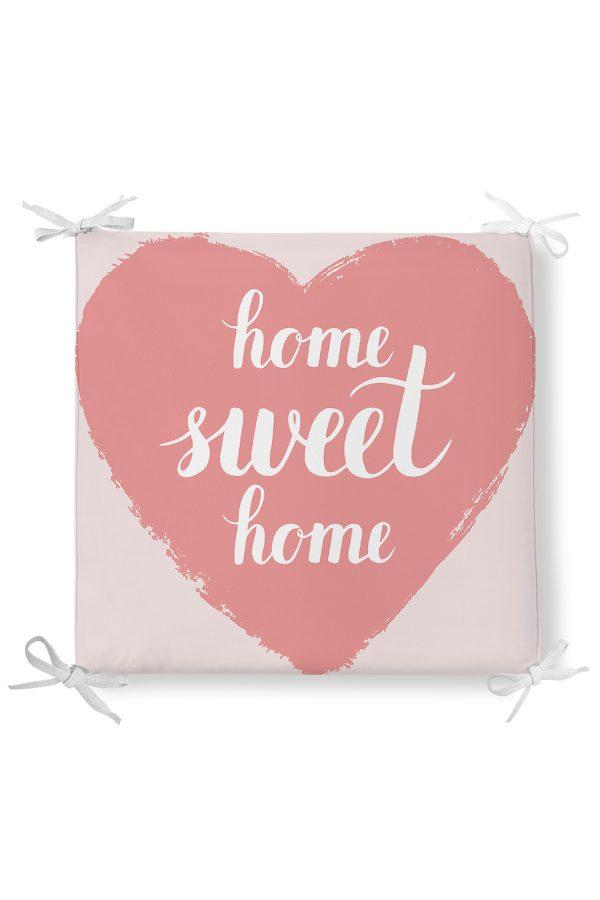 Home Sweet Home Desenli Dekorati Kare Sandalye Minderi Realhomes