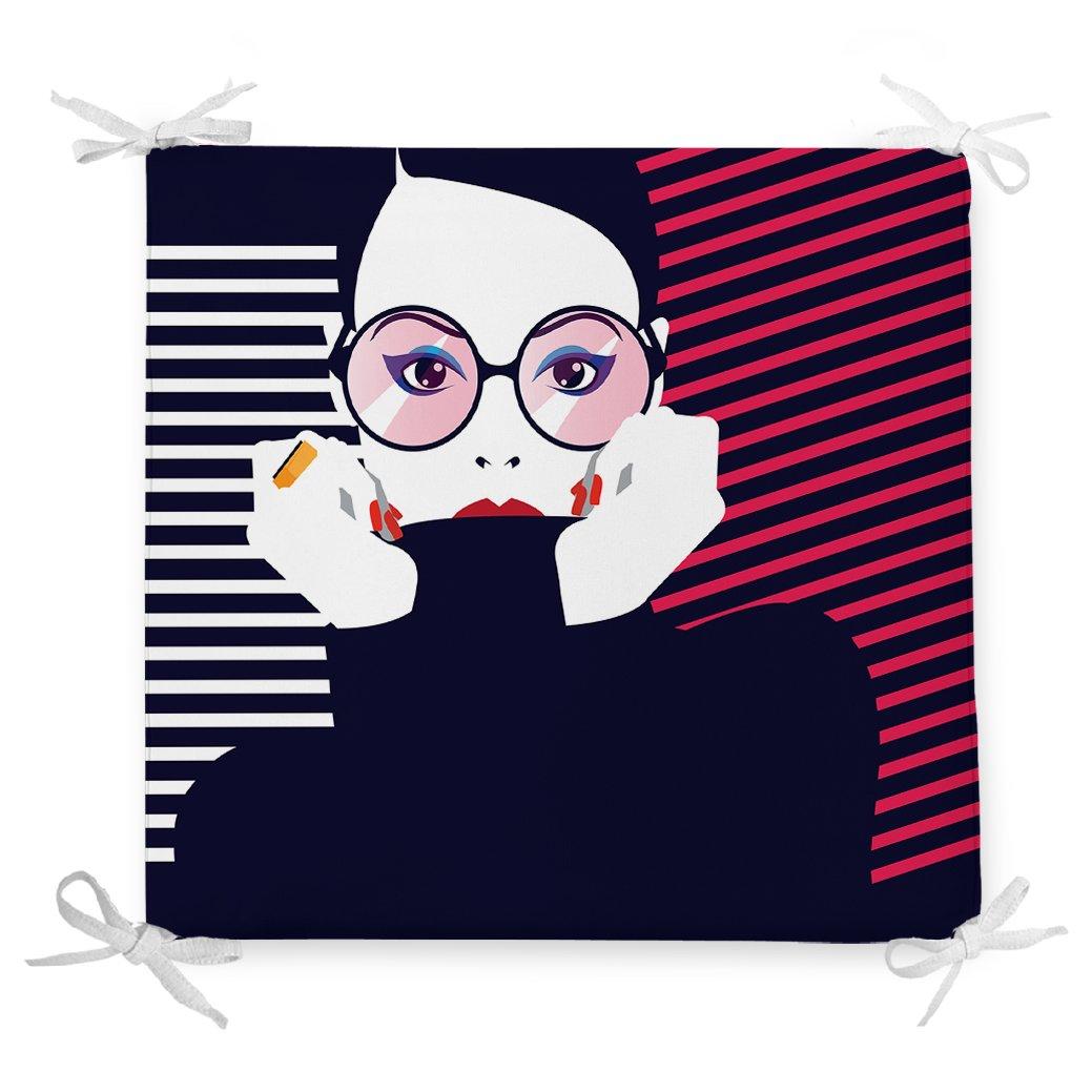 Icon Women Özel Tasarımlı Dijital Baskılı Fermuarlı Sandalye Minderi Realhomes