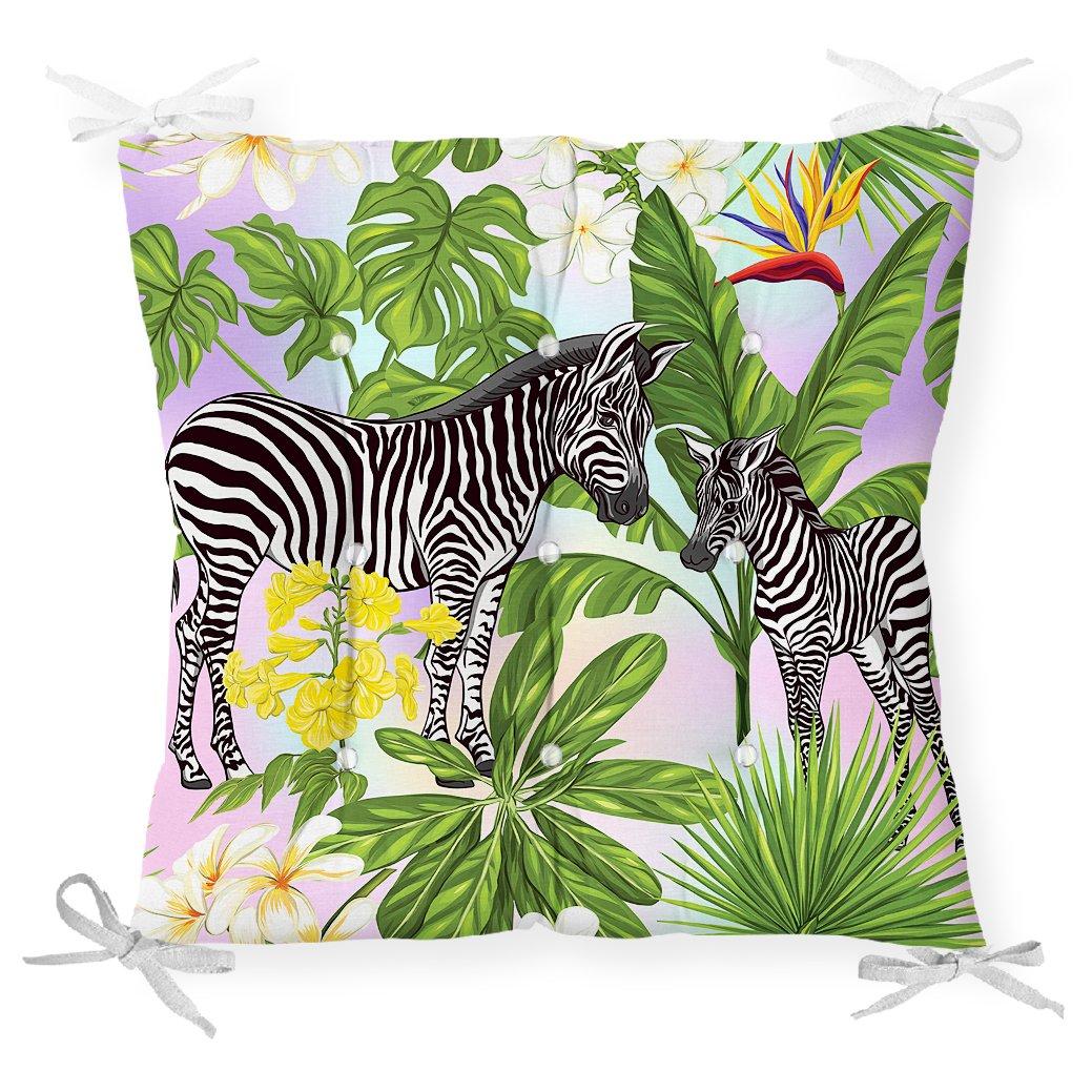 Egzotik Zebra Desenli Modern Pofidik Sandalye Minderi Realhomes