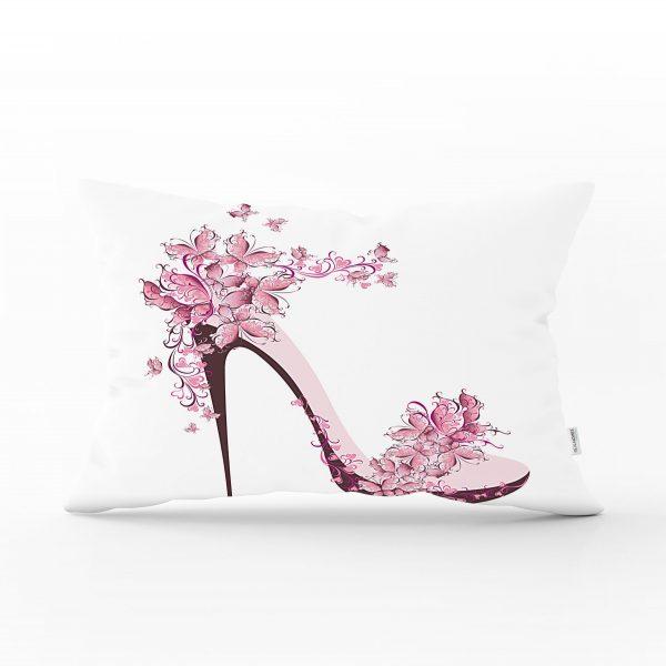Fashion Ayakkabı Tasarımlı Dekoratif Dikdörtgen Yastık Kırlent Kılıfı Realhomes