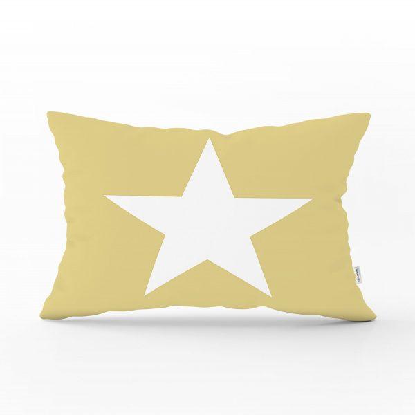 Modern Yıldız Desen Dijital Baskılı Dekoratif Dikdörtgen Yastık Kırlent Kılıfı Realhomes