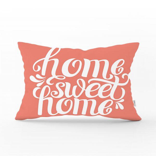 Home Sweet Home Dijital Baskılı Dekoratif Dikdörtgen Yastık Kırlent Kılıfı Realhomes