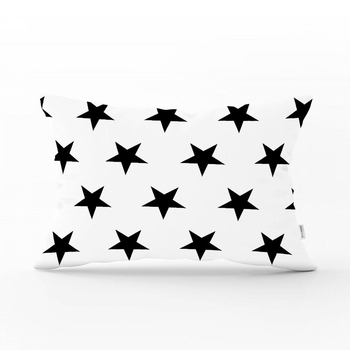 Modern Yıldız Desenli Dijital Baskılı Dekoratif Dikdörtgen Yastık Kırlent Kılıfı Realhomes
