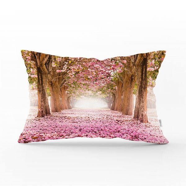 Çiçek Bahçesi Dijital Baskılı Dekoratif Dikdörtgen Yastık Kırlent Kılıfı Realhomes