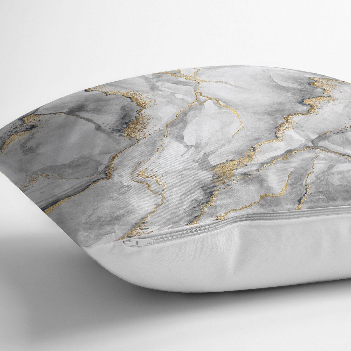 Modern Mermer Desenli Dijital Baskılı Yastık Kırlent Kılıfı Realhomes