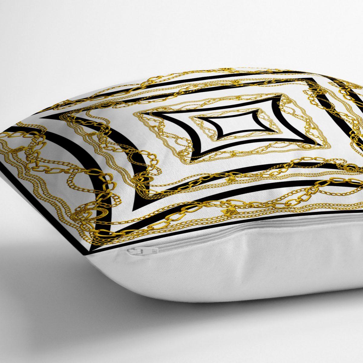 RealHomes Geometrik Zeminli Özel Tasarım Yastık Kırlent Kılıfı Realhomes