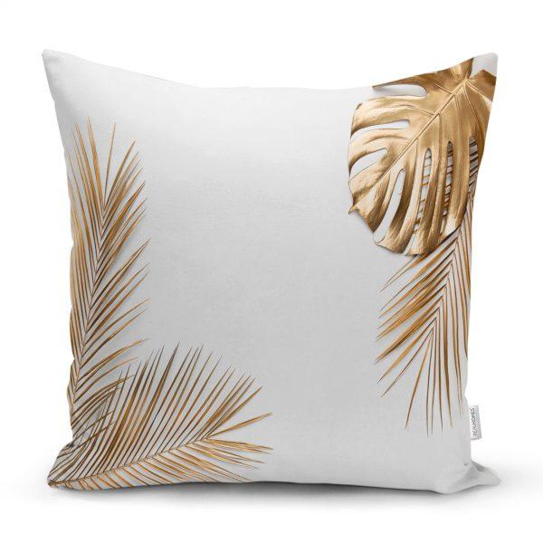 Mor Zeminde Ananas Desenli Modern Yastık Kırlent Kılıfı Realhomes
