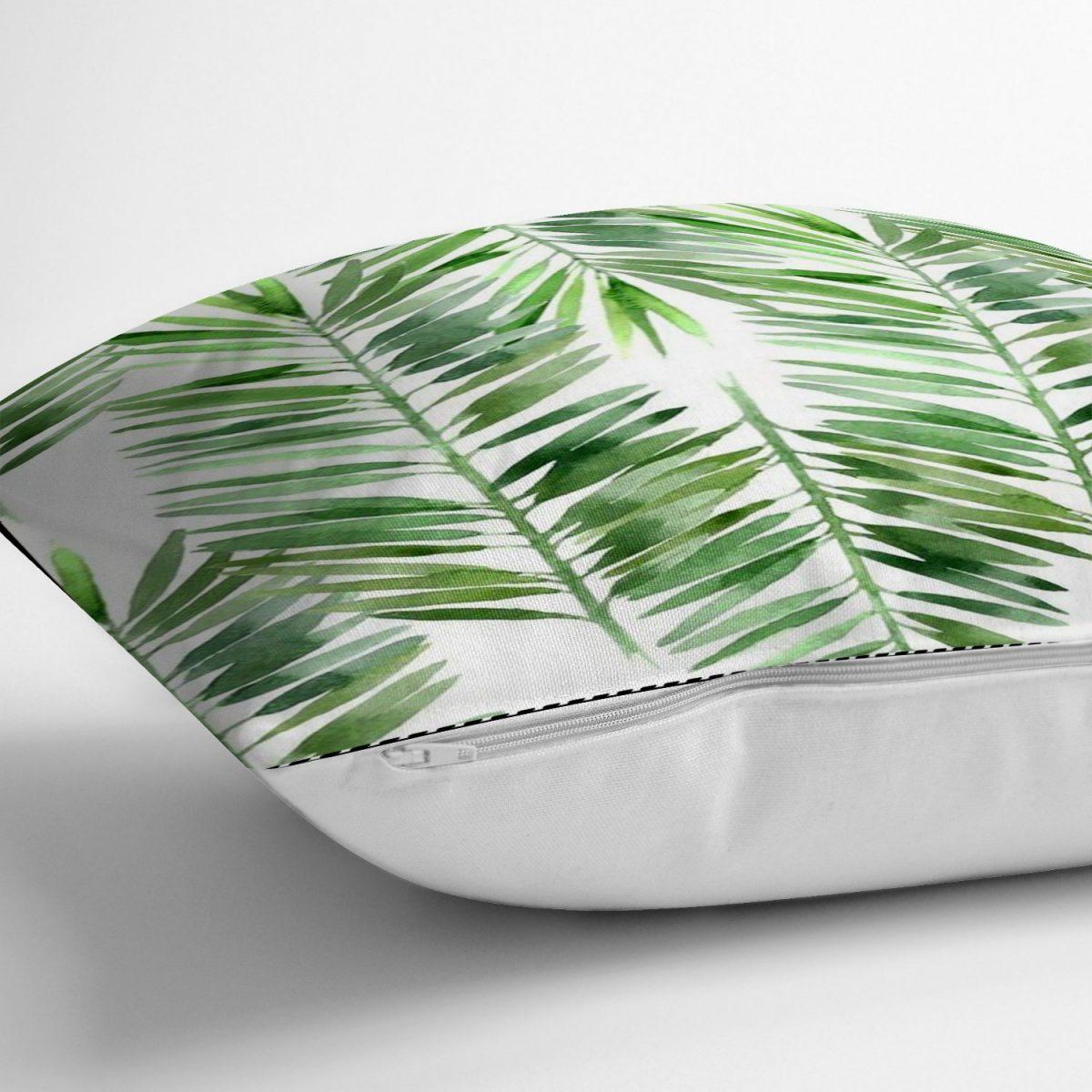 Suluboya Lif Yapraklar Desenli Özel Tasarım Yastık Kırlent Kılıfı Realhomes