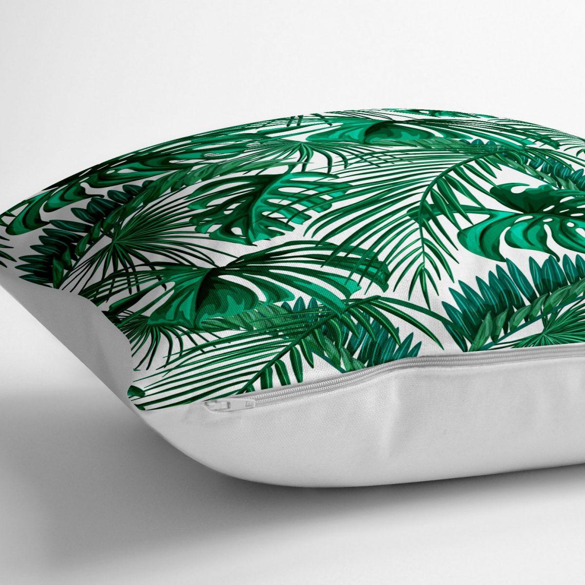 Mint Yeşili Kavaniçe Motifli Dekoratif Yer Minderi - 70 x 70 cm Realhomes