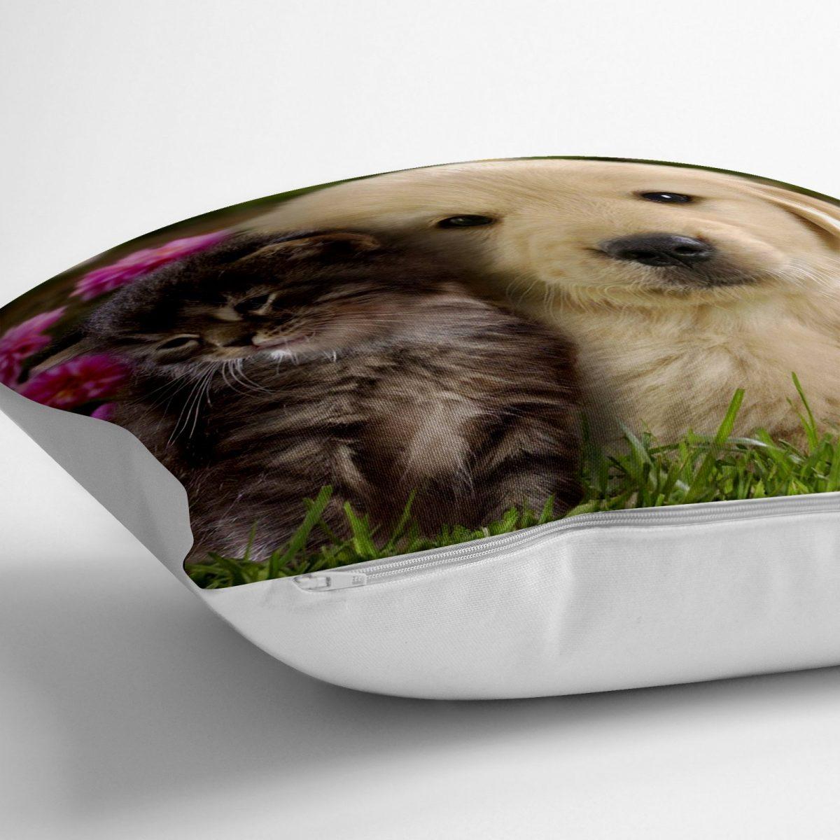 Hayvanlar Alemi Dijital Baskılı Dekoratif Yer Minderi - 70 x 70 cm Realhomes