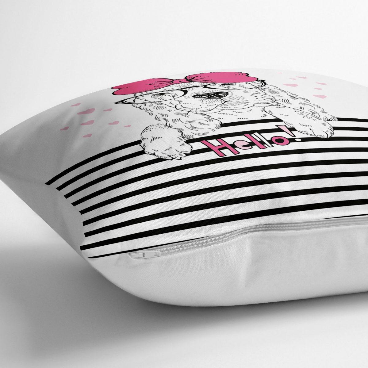 Zebra Desenli Dijital Baskılı Dekoratif Yer Minderi - 70 x 70 cm Realhomes