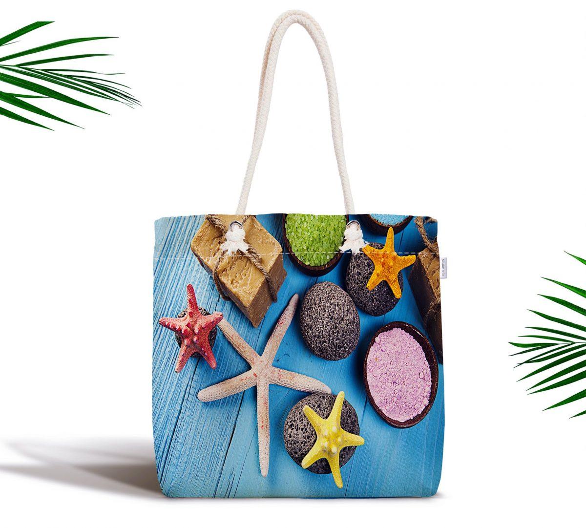 Deniz Yıldızı Özel Tasarımlı Fermuarlı Kumaş Çanta Realhomes