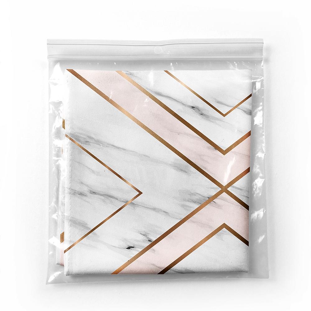 Mermer Zeminli Geometrik Detaylı Modern Tivil Eşarp Realhomes