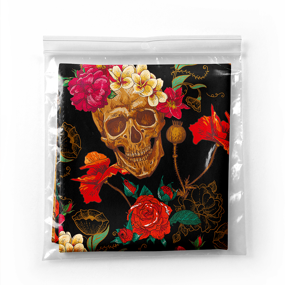 Realhomes Kuru Kafa ve Çiçekler Dijtal baskılı Modern Tivil Eşarp Realhomes