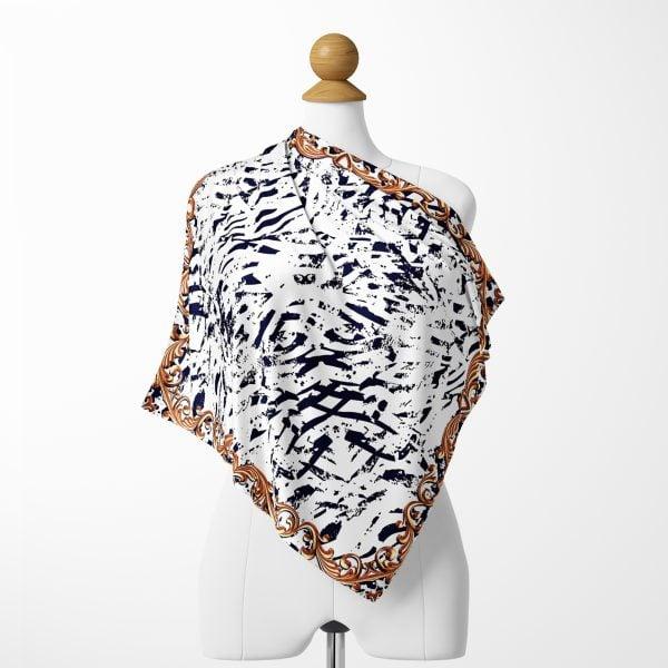 Realhomes Renkli Leopar Desenli Dijtal Baskılı Modern Tivil Eşarp Realhomes