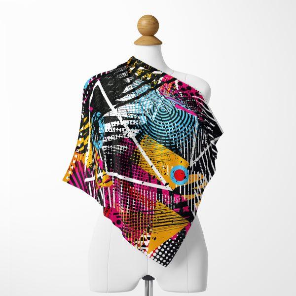 Realhomes Moda Özel Seri Dijital baskılı Modern İpeksi Twill Eşarp Realhomes