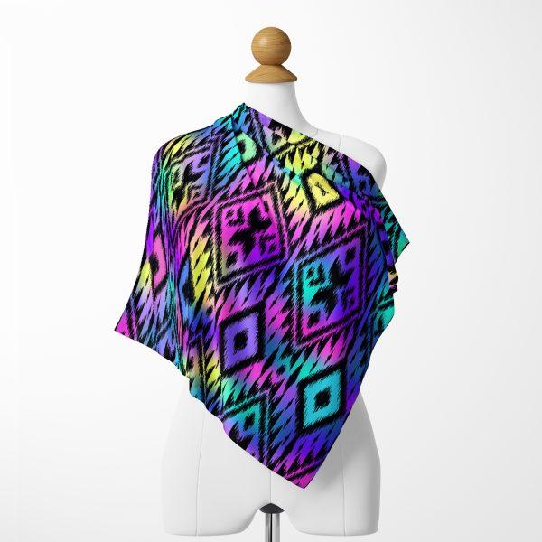 Realhomes Baklava Desenli Özel Tasarım Dijital Baskılı Modern İpeksi Twill Eşarp Realhomes