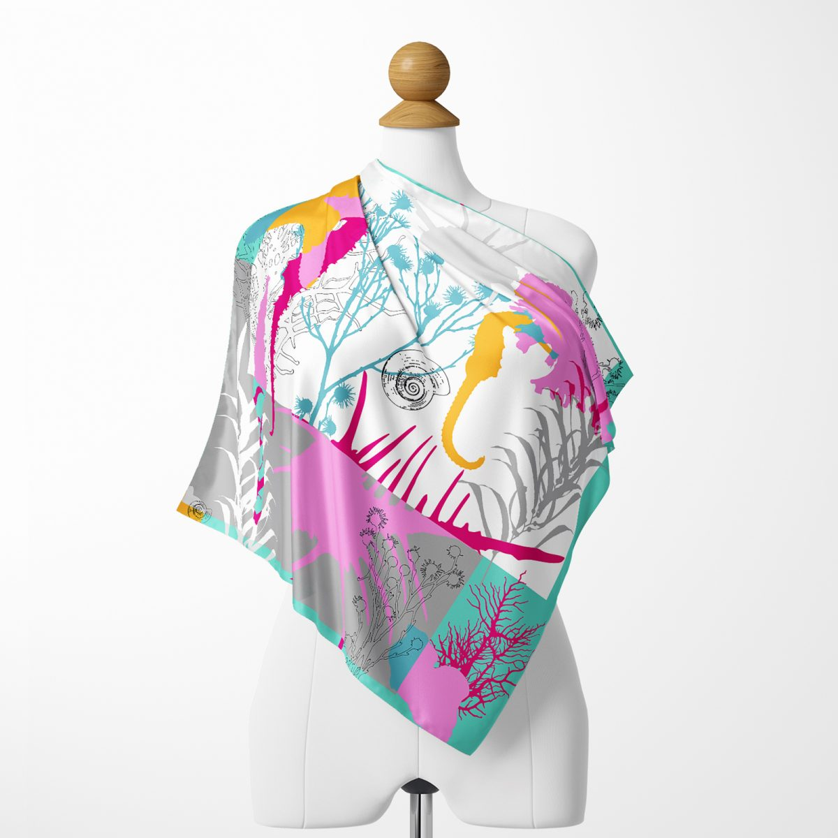 Realhomes Moda Summer Özel Seri Dijital Baskılı Modern İpeksi Twill Eşarp Realhomes