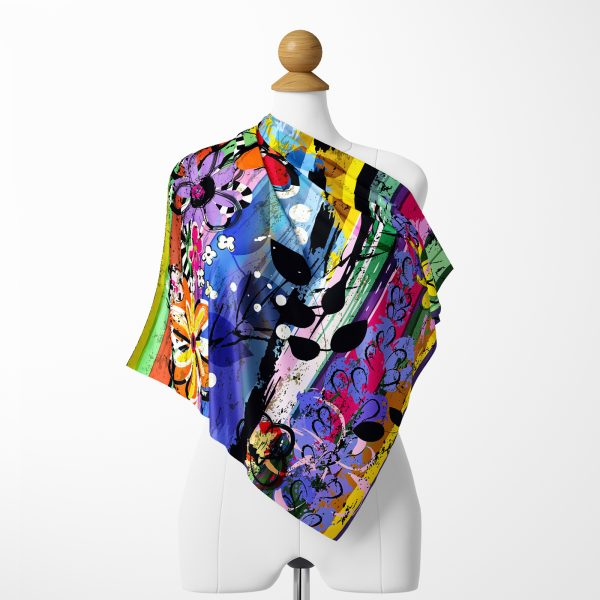 Realhomes Moda Multi Color Özel Tasarım Dijital Baskılı Modern Tivil Eşarp Realhomes