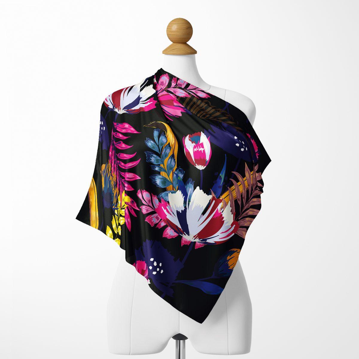 Realhomes Moda Summer Özel Seri Dijital Baskılı Modern Tivil Eşarp Realhomes