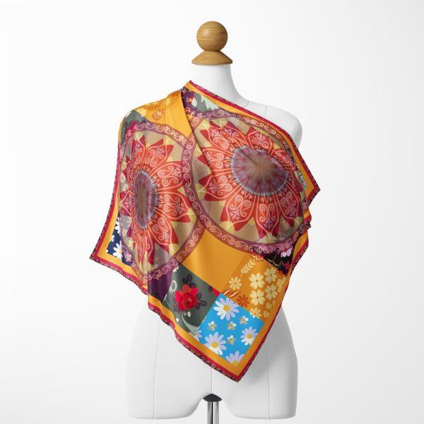 Realhomes Moda Etnik Motifli Özel Tasarım Dijital Baskılı Modern Tivil Eşarp Realhomes