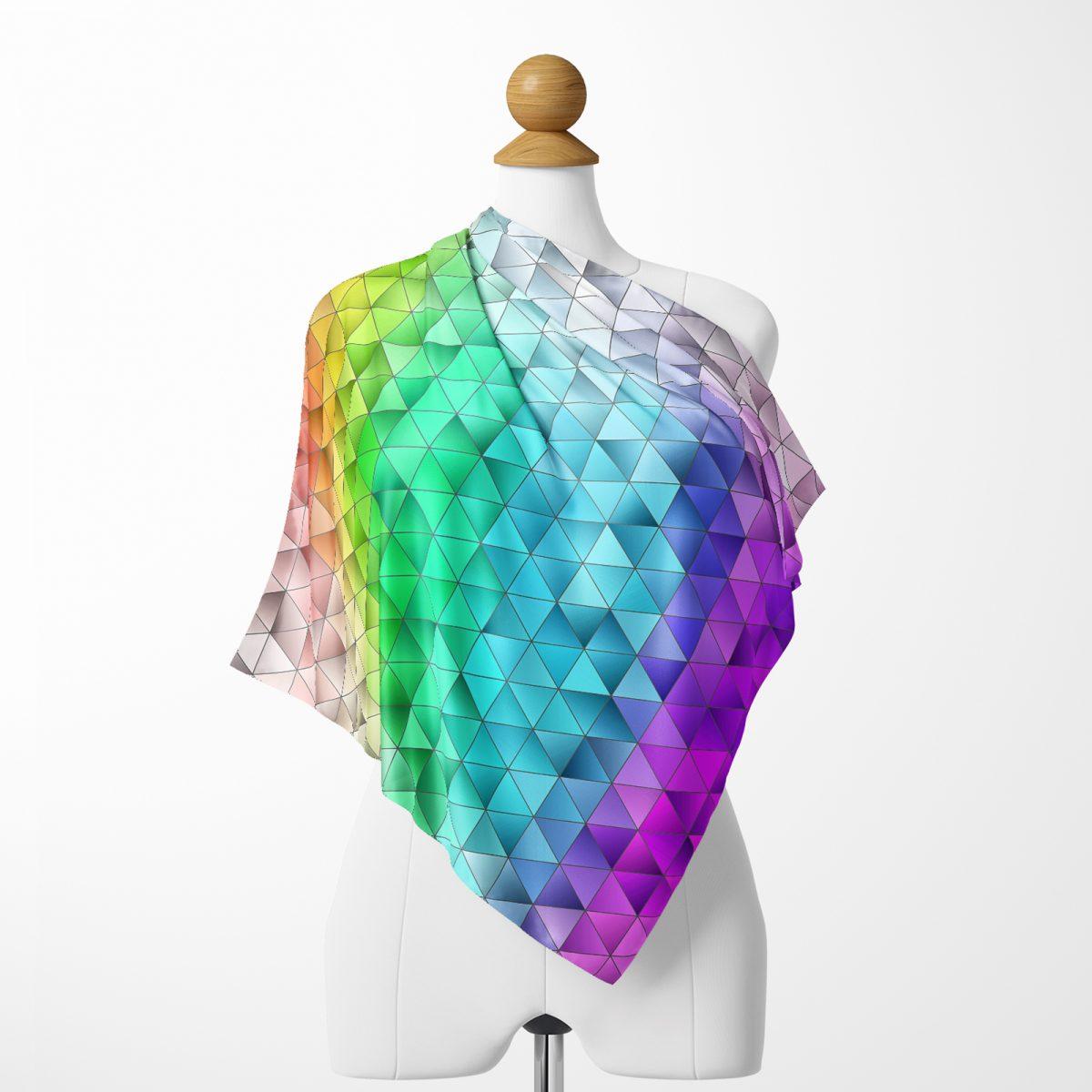 Realhomes Çok Renkli Özel Tasarım Dijital Baskılı Modern İpeksi Twill Eşarp Realhomes