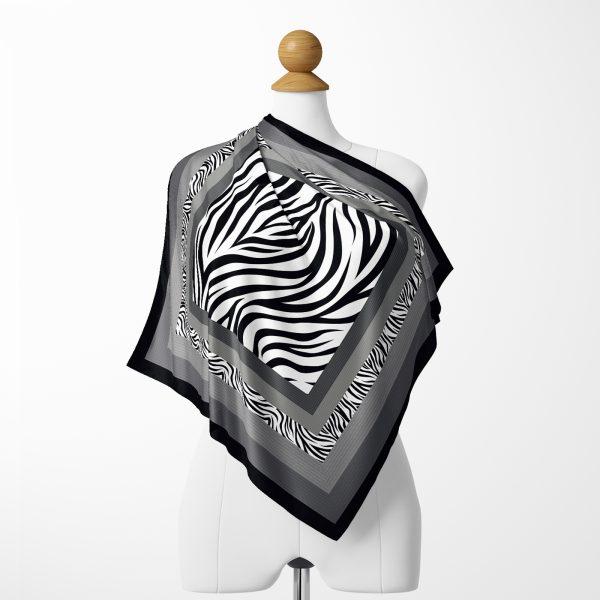 Modern Sanat Tasarımlı Dijital Baskılı Tivil Eşarp Realhomes