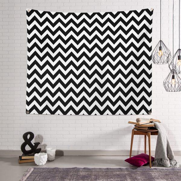 Modern Zigzag Desenli Duvar Örtüsü Realhomes