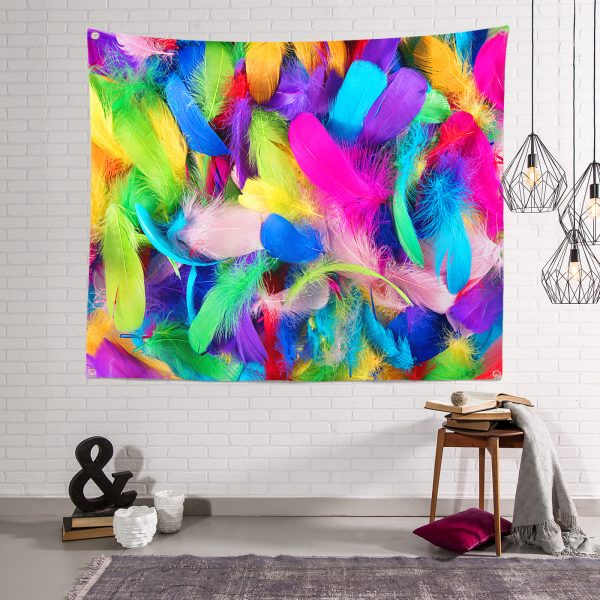 Realhomes Multi Renkler Dijital Baskılı Modern Tasarım Tapestry Duvar Örtüsü Realhomes
