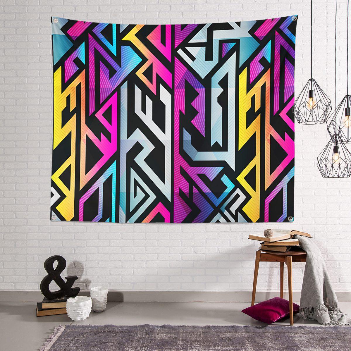 RealHomes Moda Özel Tasarım Dijital Baskılı Modern Tapestry Duvar Örtüsü Realhomes