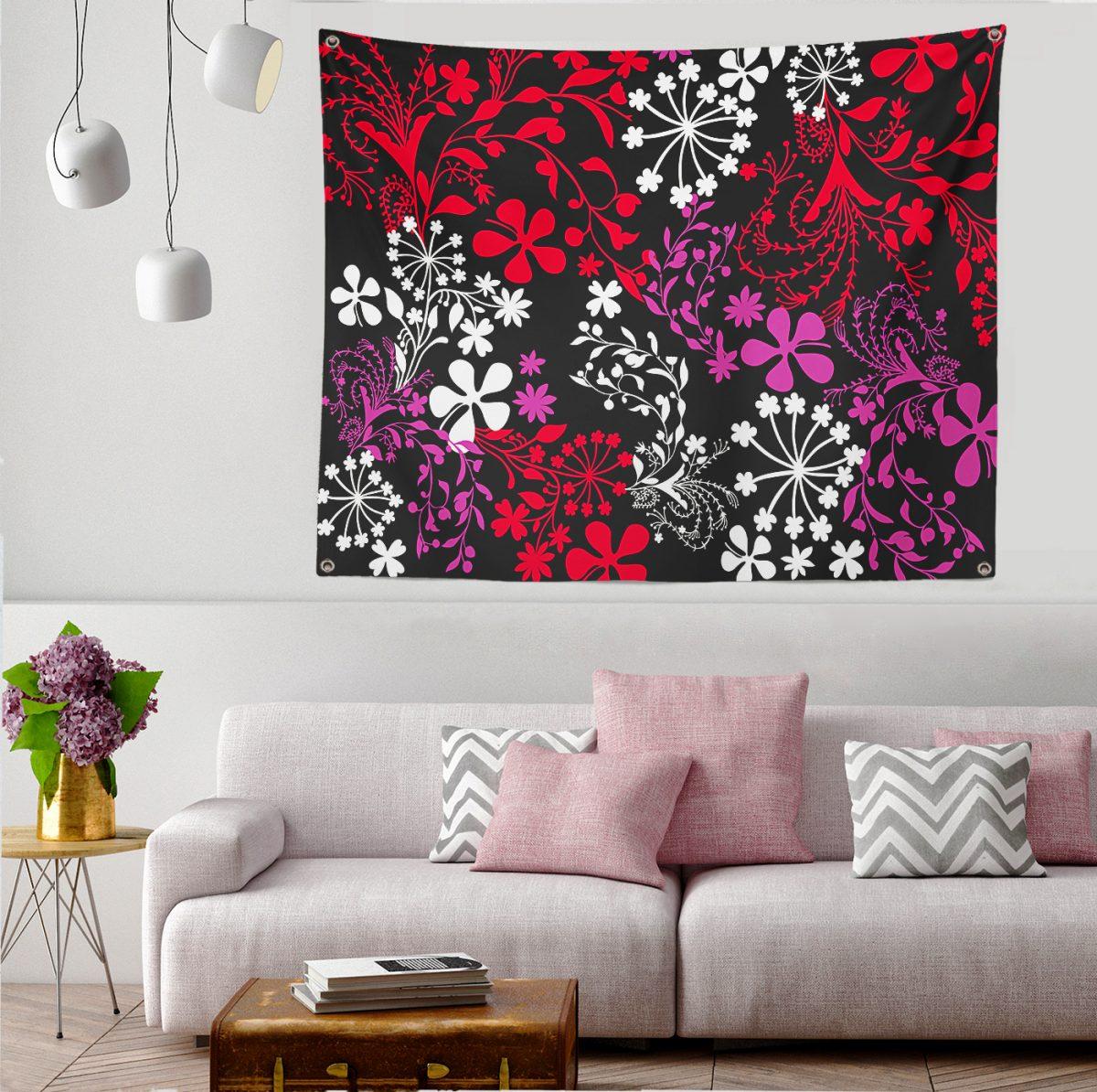 Modern Sanat Tasarımlı Dijital Baskılı Modern Tasarım Tapestry Duvar Örtüsü Realhomes