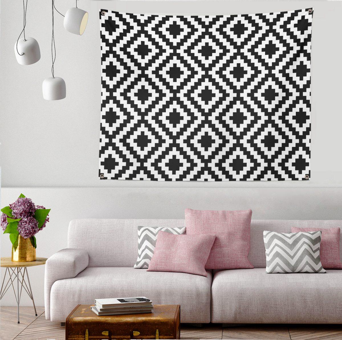 Realhomes Dijital Baskılı Modern Tapestry Duvar Halısı Realhomes