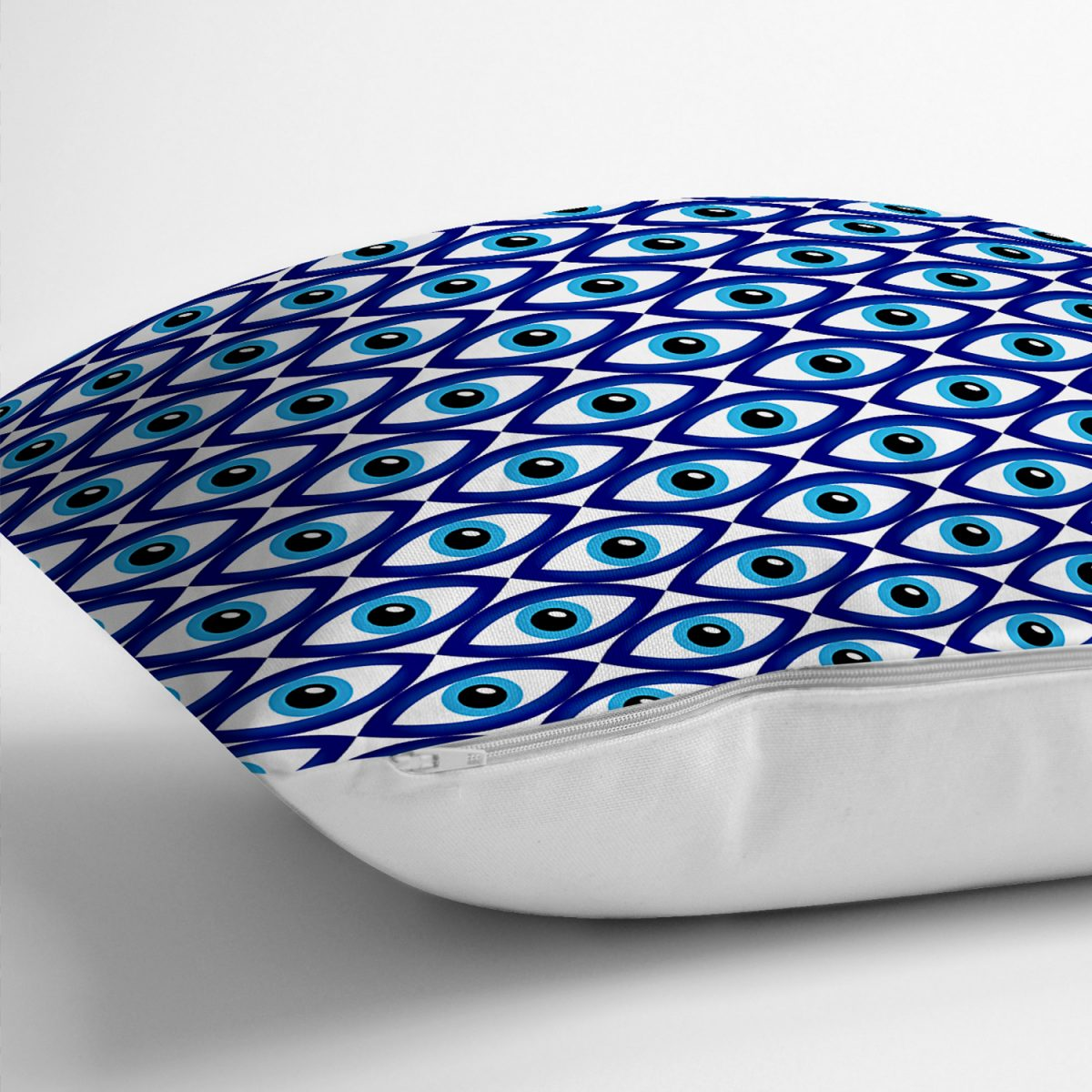 Realhomes Göz Motifli Özel Tasarım Dijtal Baskılı Modern Yastık Kırlent Kılıfı Realhomes
