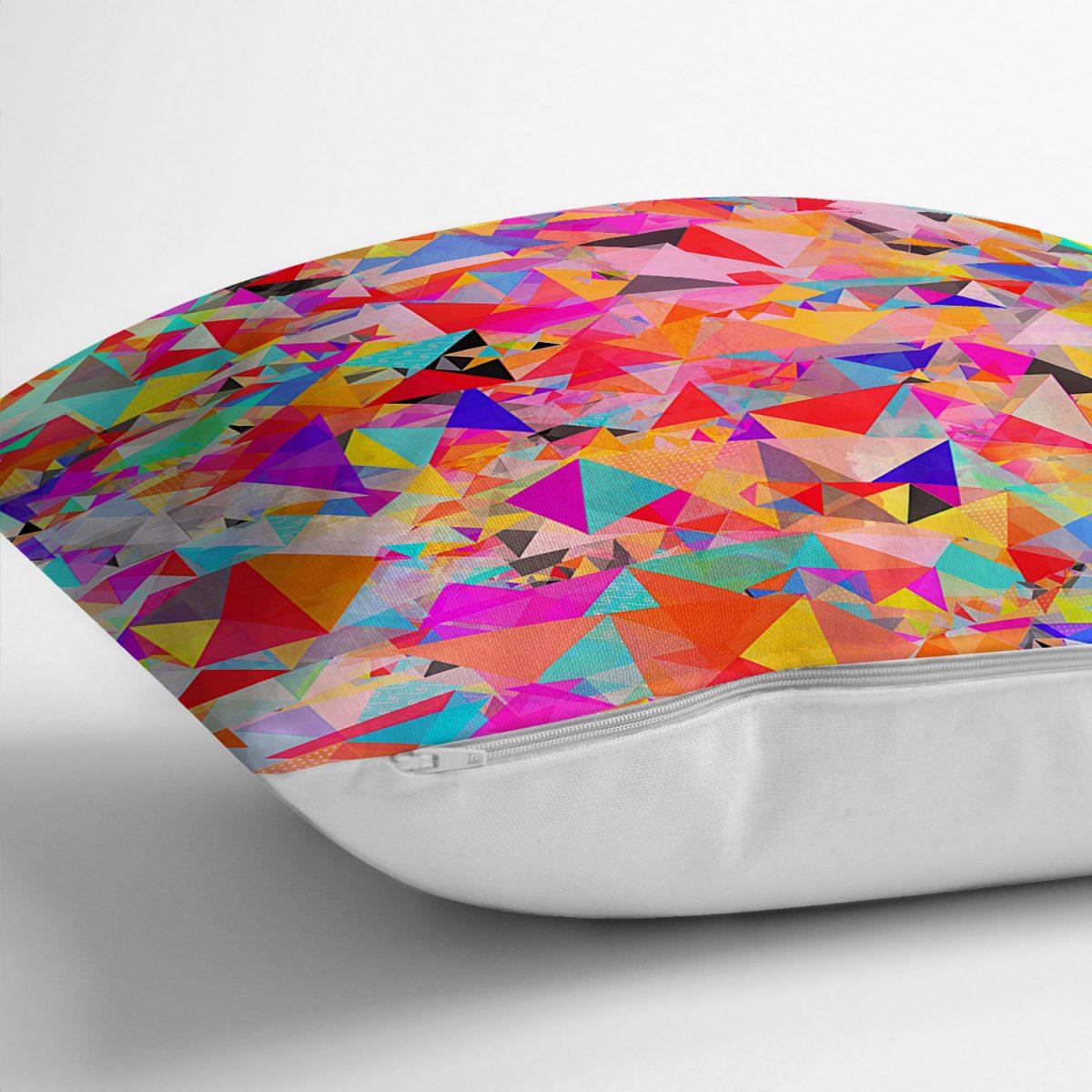Realhomes Multi Renkler Dijital Baskılı Modern Yastık Kırlent Kılıfı Realhomes