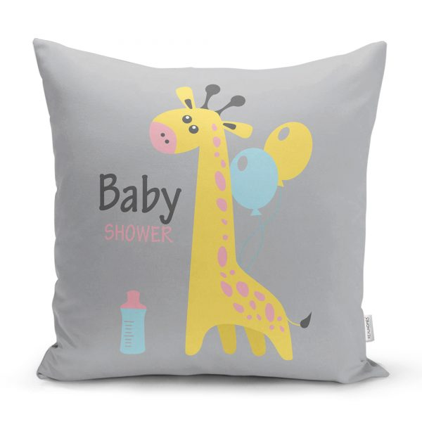 Pembe Zeminde Little Star Yıldız Tasarımlı Bebek Odası Yastık Kılıfı Realhomes