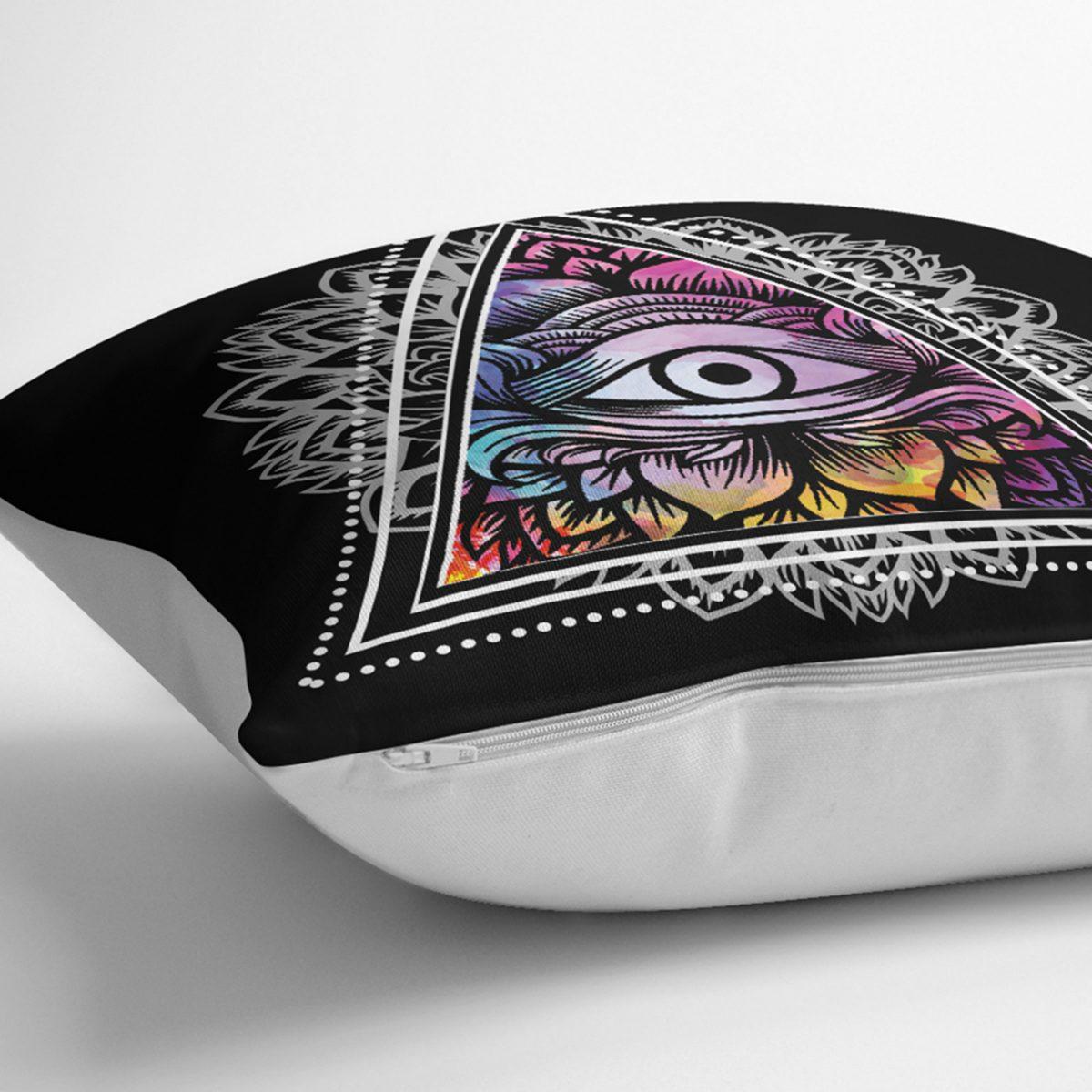 Üçüncü Göz Motifli Özel Tasarım Dijital Baskılı Yastık Kılıfı Realhomes