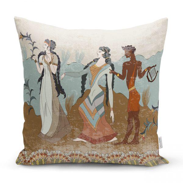 Girit Uygarlığı With Minoan Motif Modern Yastık Kılıfı Realhomes