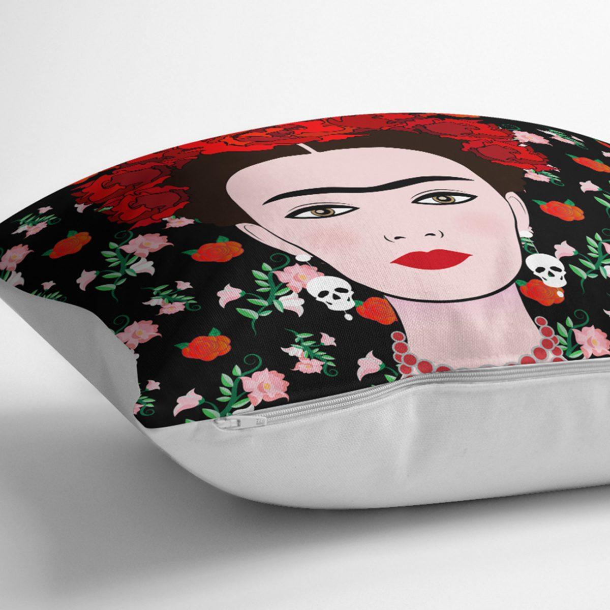 Özel Tasarım Frida Dijital Baskılı Kırlent Kılıfı Realhomes