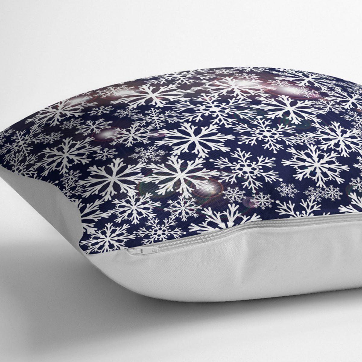Kristal Kar Taneleri Motifli Özel Tasarım Yastık Kılıfı Realhomes
