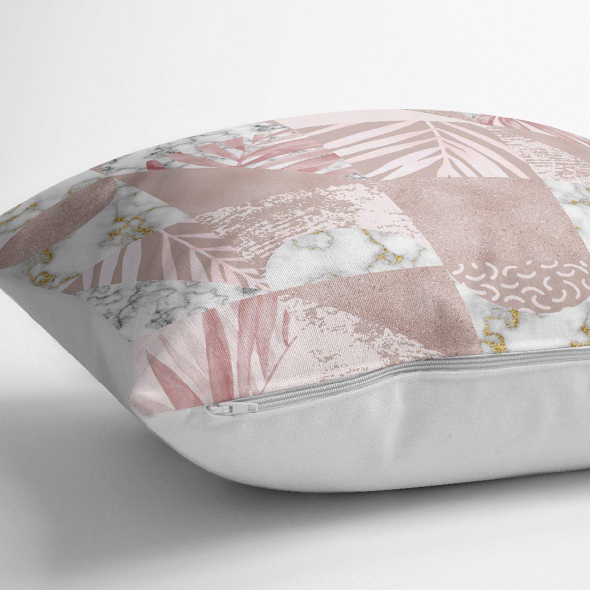 Mermer Desen Temalı Geometrik Özel Tasarım Kırlent Kılıfı Realhomes