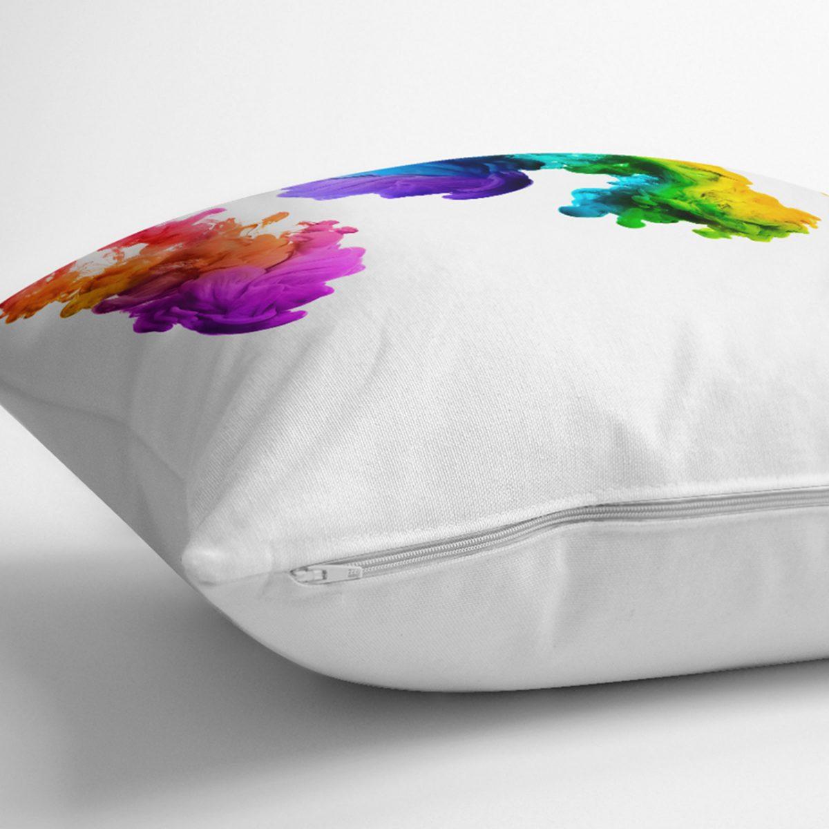 Renli Duman Dijital Baskılı Modern Yastık Kılıfı Realhomes