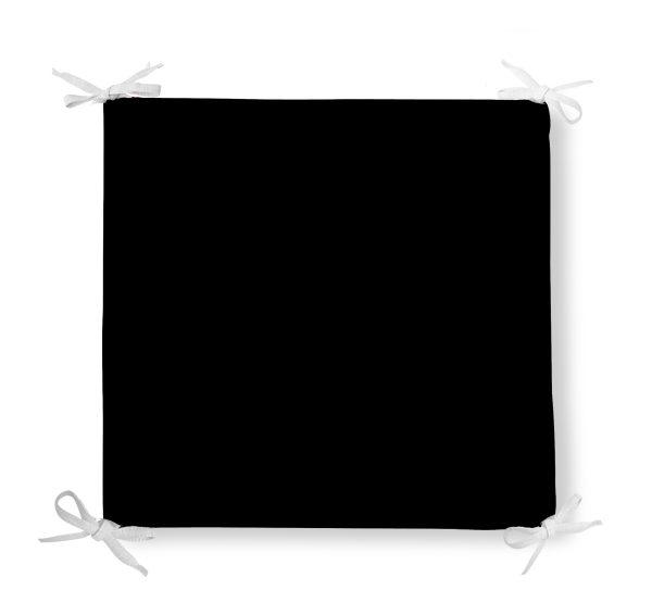 Siyah Renk Dekoratif Kare Sandalye Minderi 40x40 cm Fermuarlı Realhomes