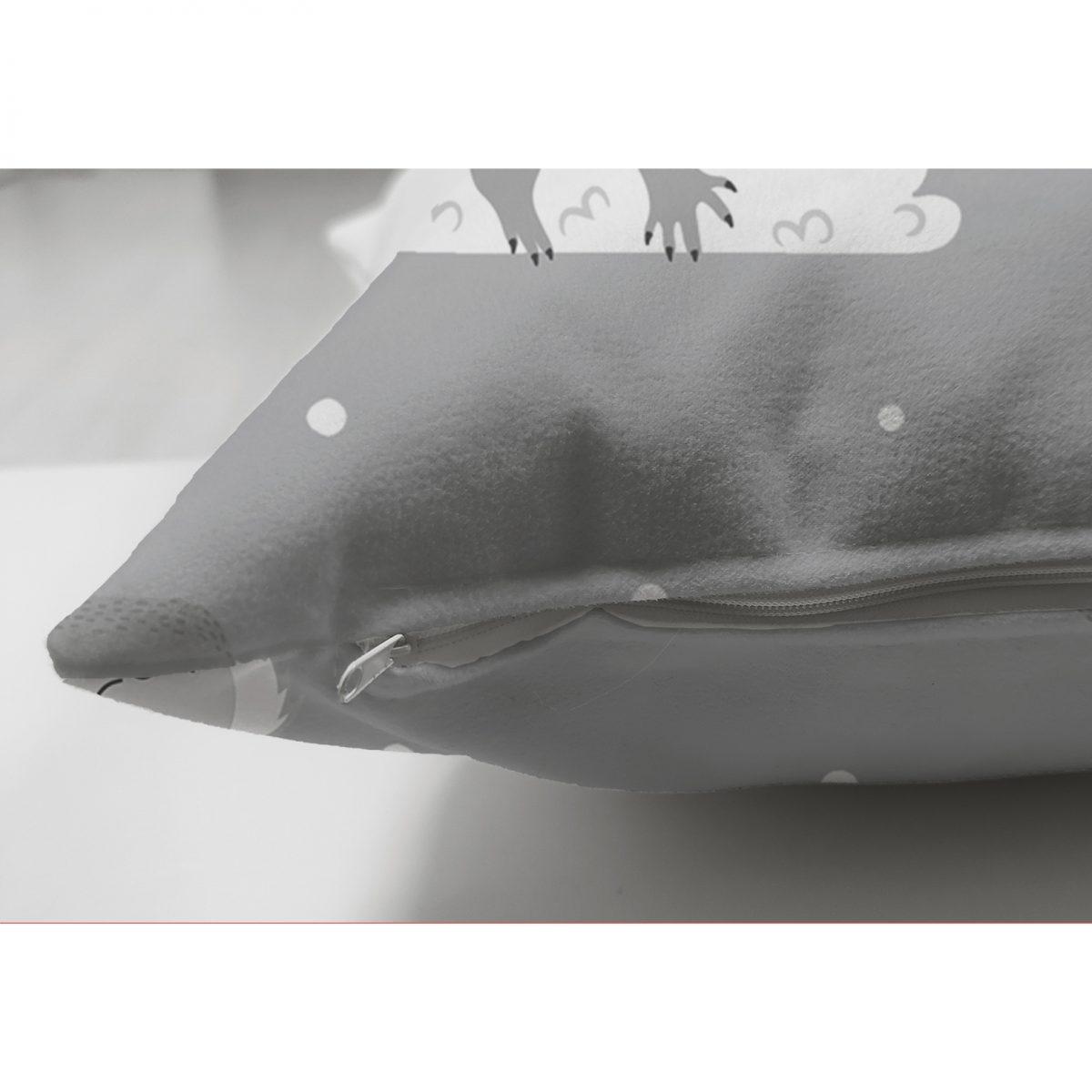 Realhomes Çift Taraflı Bulutlara Sarılmış Ayıcıklar Dijital Baskılı Modern Süet Yastık Kılıfı Realhomes