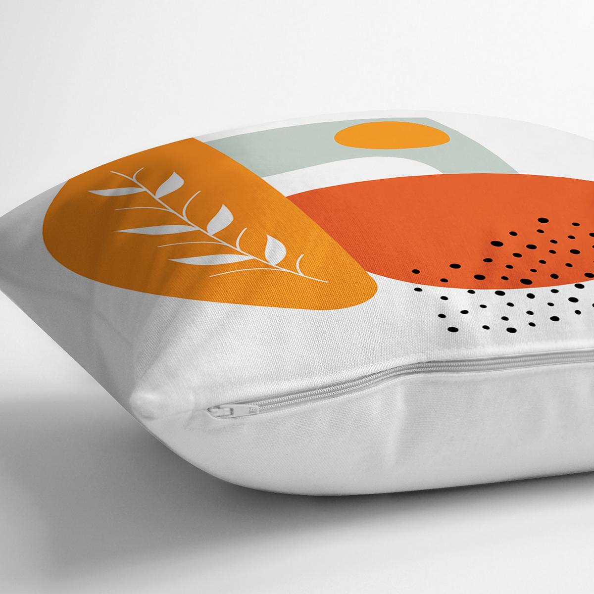 Beyaz Zemin Üzerinde Onedraw Çizim Dijital Baskılı Modern Yastık Kırlent Kılıfı Realhomes