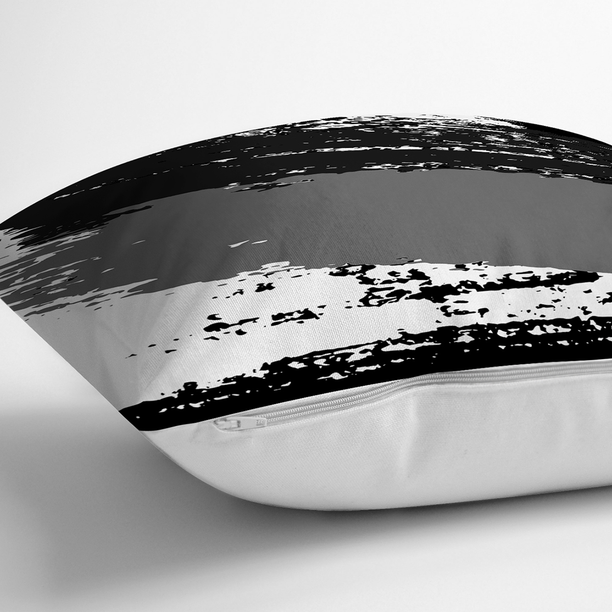 Beyaz Zemin Üzerinde Soyut Çizim Dijital Baskılı Modern Yastık Kırlent Kılıfı Realhomes